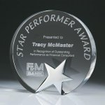Top Star Circle Crystal Award Employee Awards